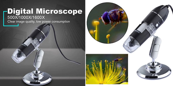 Microscopio Digital ajustable para teléfono de 1.600 mpx oferta en AliExpress