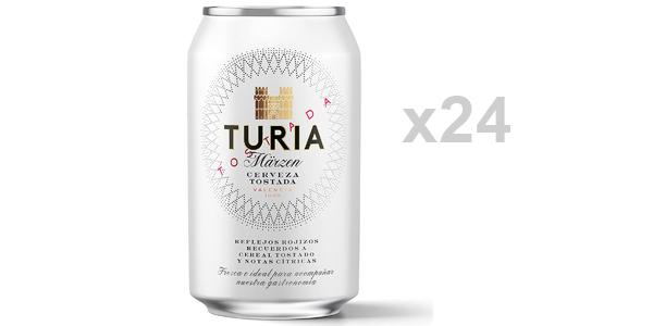 Pack x24 latas Cerveza Tostada Turia Märzen de 330 ml barato en Amazon