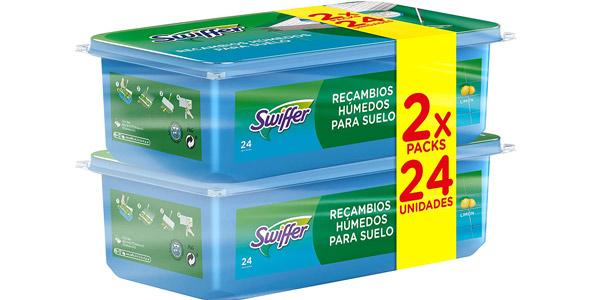 Pack x48 Recambios húmedos para mopa Swiffer baratos en Amazon