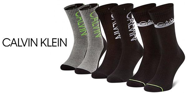 Pack de 3 calcetines altos Calvin Klein para hombre barato
