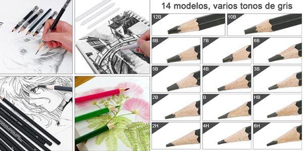 Set de 37 Accesorios de dibujo Goldge oferta en Amazon