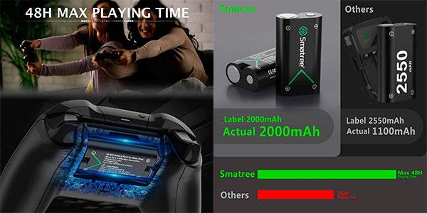 Pack Smatree Cargador para mandos de Xbox + 3 baterías barato