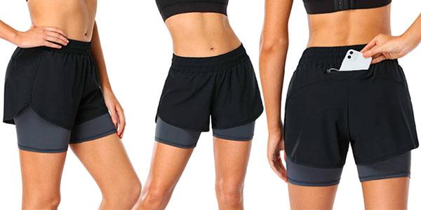 Pantalones cortos deportivos 2 en 1 Move Beyond baratos