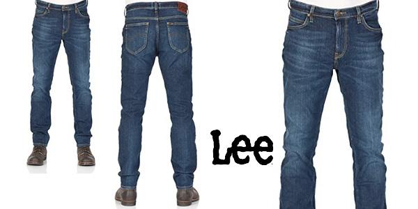 Pantalones vaqueros Lee Rider Contrast Jeans para hombre baratos en Amazon