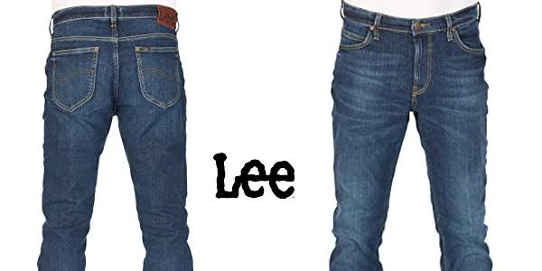 Pantalones vaqueros Lee Rider Contrast Jeans para hombre chollo en Amazon