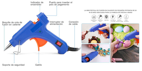Pistola de silicona en oferta