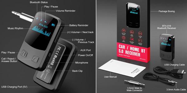 Receptor Bluetooth Pantalla OLED Electric Giant oferta en Amazon
