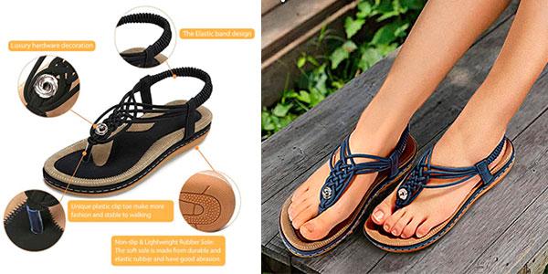 Sandalias de tiras Nuheel para mujer baratas