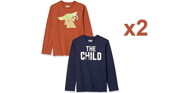 Pack x2 Camisetas Disney Star Wars The Child y Marvel Vengadores Amazon Essentials barato en Amazon