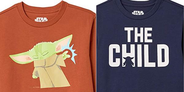 Pack x2 Camisetas Disney Star Wars The Child y Marvel Vengadores Amazon Essentials chollo en Amazon