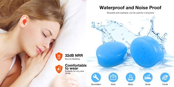 Pack x21 Pares de Tapones de oídos de silicona Frienda moldeables y reutilizables chollo en Amazon