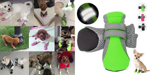 Set x4 Zapatos reflectantes para perro baratos en AliExpress