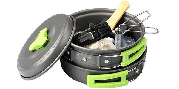Set EXTSUD de utensilios de cocina de camping para 1-2 personas barato