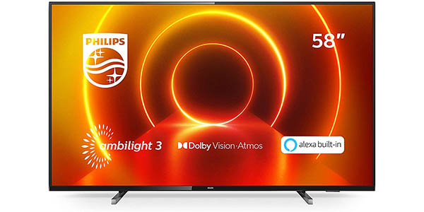 """Smart TV Philips 58PUS7805 UHD 4K HDR IA de 58"""""""