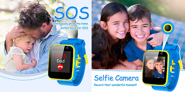 Smartwatch infantil AGPTEK con cámara selfie y linterna barato