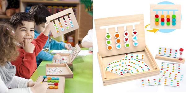 Tablero Montessori con 18 cartas (36 tipos de juego) Symiu barato en Amazon