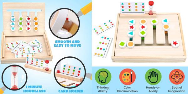 Tablero Montessori con 18 cartas (36 tipos de juego) Symiu chollo en Amazon
