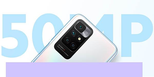 Xiaomi Redmi 10 con cuádruple cámara
