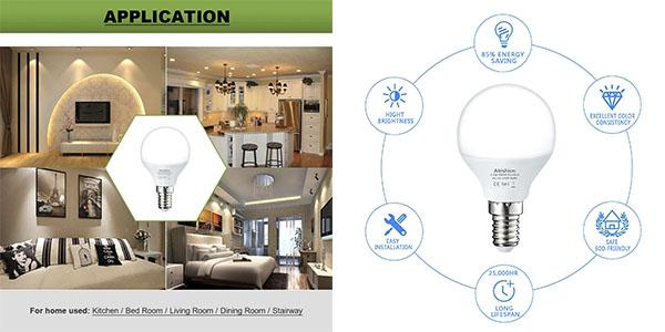 Abishion bombillas LED E14 pack ahorro