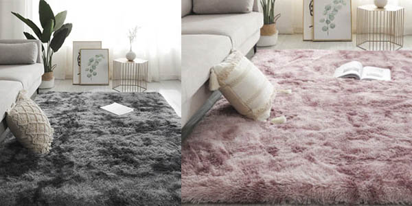 alfombra pelo largo salón oferta