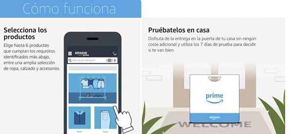 Amazon Moda servicio prueba primero paga después