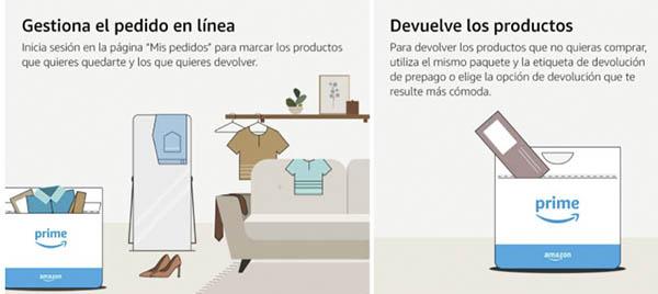 Amazon prueba primero paga después moda clientes Prime