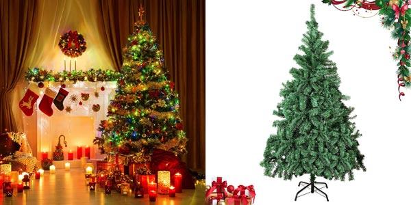 Árbol de navidad artificial realista Geediar de 180 cm y 650 puntas con ramas densas barato en Amazon