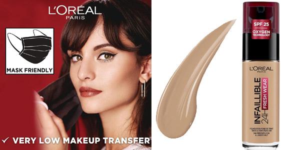 Base de maquillaje L'Oréal París Make-up Infalible 24H Fresh Wear barata en Amazon