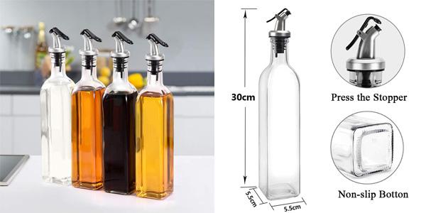 Botella dosificadora para aceite o vinagre de 500 ml chollo en Amazon