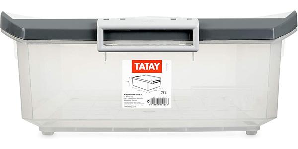 Caja de almacenaje multiusos Tatay con tapa barata en Amazon