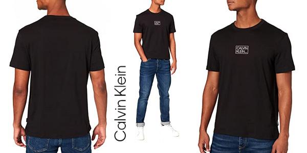 Calvin Klein Chest Box Logo T-Shirt camiseta para hombre barata en Amazon