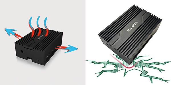 Carcasa de aluminio ICY BOX para Raspberry Pi 4 barata