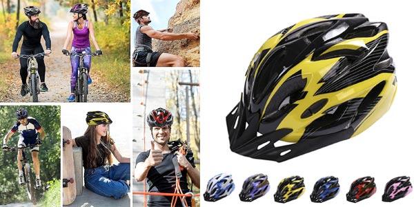Casco de bicicleta MTB ajustable Deyiis con visera extraíble para adultos barato en Amazon