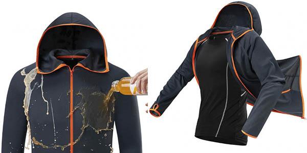 chaqueta cortavientos hidrofóbica chollo