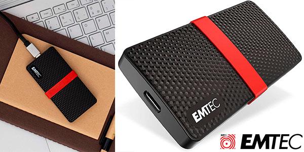 Chollo Disco duro externo SSD Emtec X200 USB-C de 512 GB