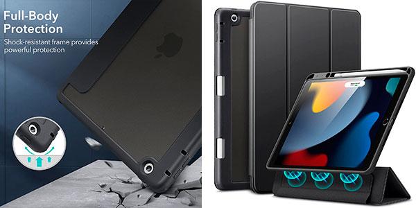 """Chollo Funda híbrida ESR para iPad 7, 8 y 9 de 10.2"""" con tapa magnética"""