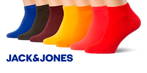 Chollo Pack de 7 pares de calcetines Jack & Jones para hombre