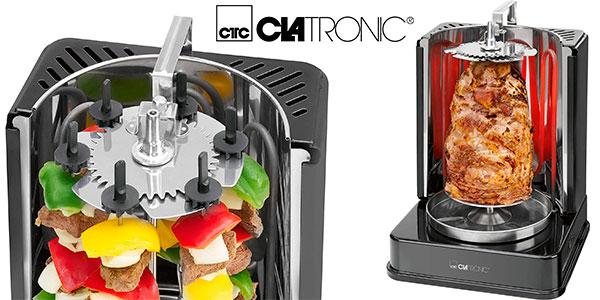 Chollo Parrilla eléctrica Clatronic DVG 3686 de 1400 W para kebabs