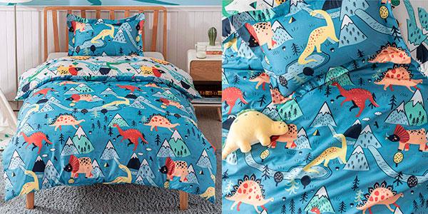 Chollo Set Funda nórdica infantil de edredón y almohada Bedsure para cama de 90 cm