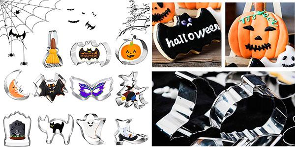 Chollo Set Jiasha de 11 cortadores de galletas de Halloween