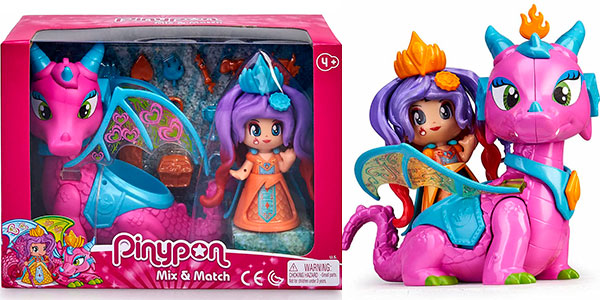 Chollo Set Reina y Dragón Volador de Pinypon