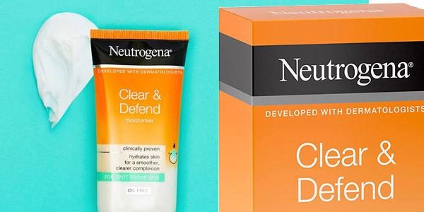 Crema Hidratante Neutrogena Clear and Defend de 50 ml barata en Amazon