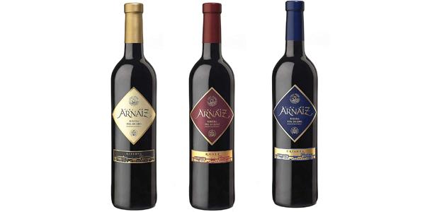 Estuche x3 Botellas Vino Viña Arnáiz d.o. Ribera del Duero Reserva, Crianza y Roble de 750 ml barato en Amazon chollo en Amazon