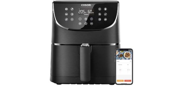 Freidora de aire caliente Cosori Smart XXL de 5,5L, WIFI, 11 programas barata en Amazon