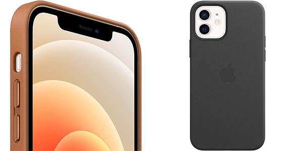Funda de piel Apple con MagSafe para iPhone 12 y iPhone 12 Pro barata