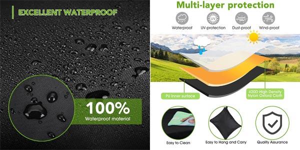 Funda impermeable y antipolvo de mesa de exterior con protección UV chollo en Amazon