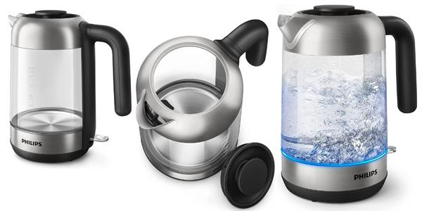 Hervidor de agua eléctrico Philips Serie 5000 HD9339/80 de 1.7L y 2.200W barato en Amazon