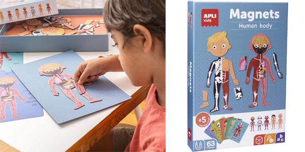 Juego magnético educativo APLI Kids sobre el cuerpo humano barato en Amazon