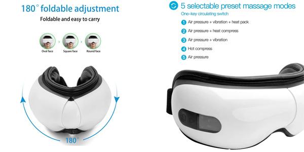 Masajeador digital ocular Meilen con función calor y conexión Bluetooth chollo en Amazon