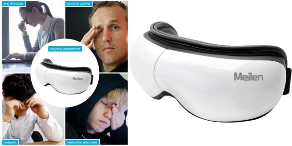 Masajeador digital ocular Meilen con función calor y conexión Bluetooth oferta en Amazon